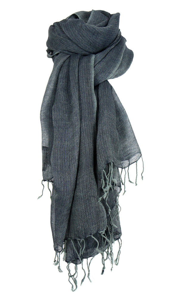 Sida Scarf - herringbone patterned wool scarf from Farmers Market
