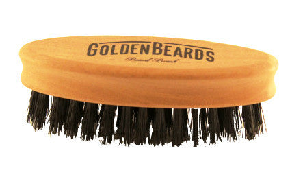 Travel Beard Brush - Golden Beards