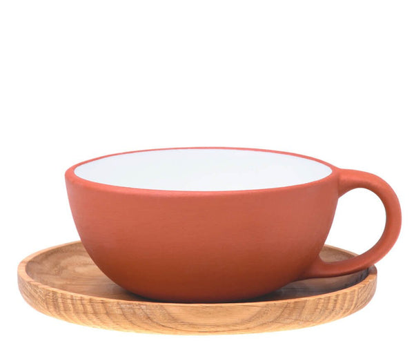 Cup with Wooden Saucer - Vaidava