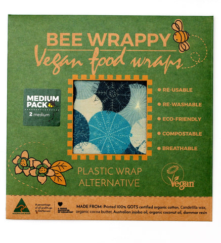 Vegan Food Wraps (2 x Medium) - Nature Team