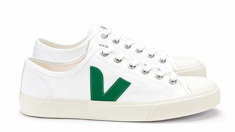 Wata Canvas White Emeraude - VEJA Shoes