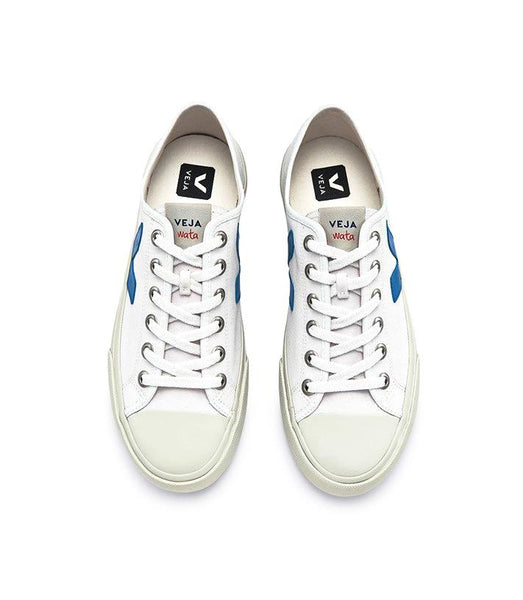 Wata Canvas White Swedish Blue - VEJA Shoes
