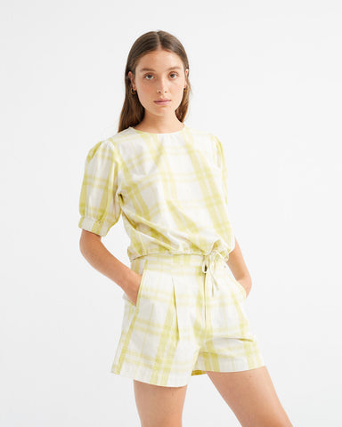 Checks Iris Blouse - Thinking MU