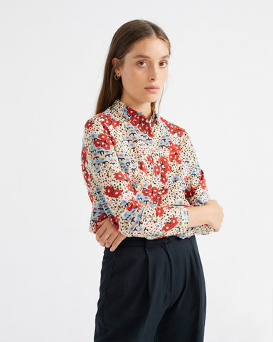 Small Flowers Chamomile Blouse - Thinking MU