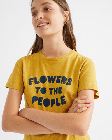 Flowers To The People T-Shirt - Thinking MU