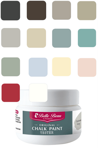 Belle Beau Chalk Paint 100ml Tester Pack of 14 Colours