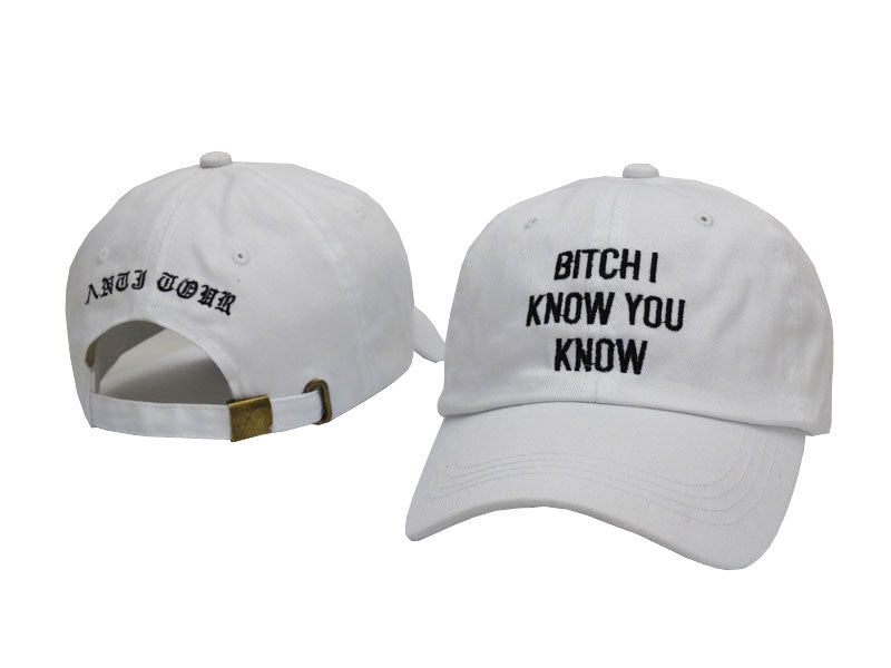 "Rihanna Anti Tour ""Bitch I know you know"" Cap"