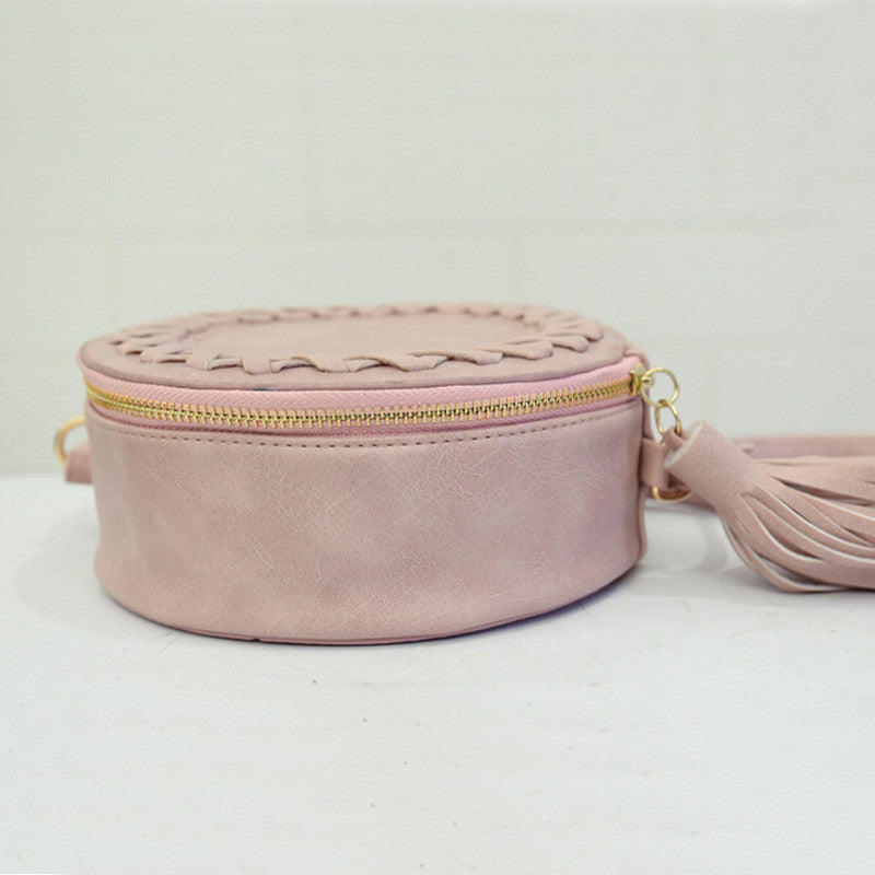 Lucy Loo Round Weave Cross Bag