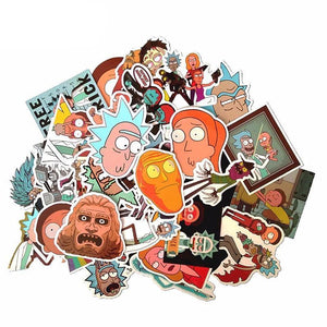 35Pcs American Drama Rick and Morty Stickers