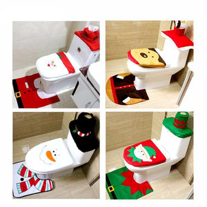 Funny Christmas Bathroom Set