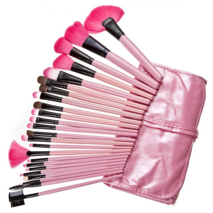 24 Piece Makeup Brush Set | Pink Glory