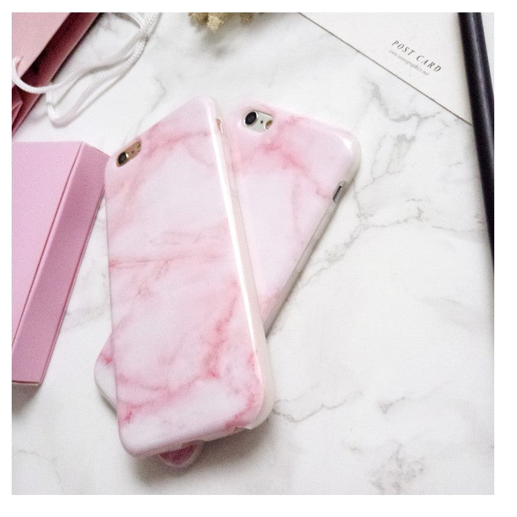 Glossy Granite Pink Marble Phone Case