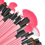 24 Piece Makeup Brush Set | Pink Glory - Foenix Direct