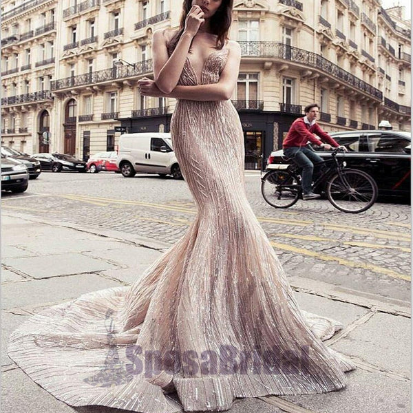 Beautiful Mermaid Sparkly New Arrival Unique Design Prom Dresses, Evening dresses, PD0595 - SposaBridal