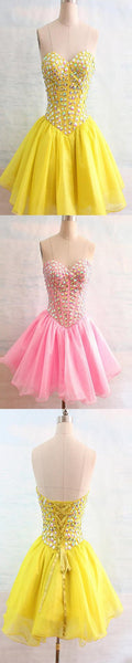 Sweetheart beaded tight freshman lovely simple casual homecoming prom dress,BD00117