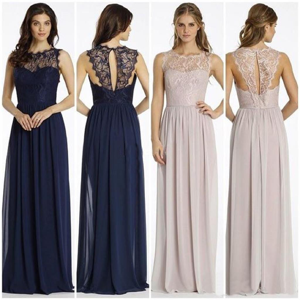 Chiffon with lace top Unique New Cheap popular Bridesmaid Dresses ...