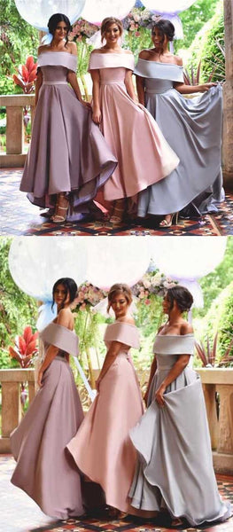 Pretty Junior Young Girls Unique New Straight Neck Long Custom Bridesmaid Dresses, WG150