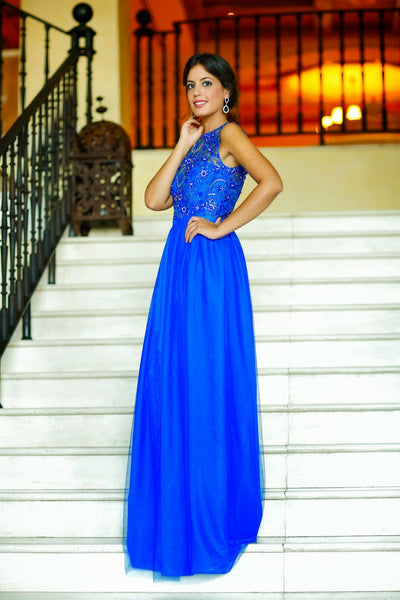 Royal Blue Long  Affordable Charming Custom Discount Prom Dresses Online,PD0120