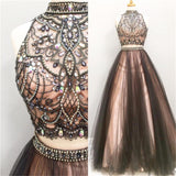 2017 Tulle Two Piece Most Popular Gorgeous Evening Prom Dress, Party gown, PD0321