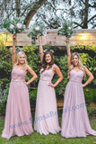 Cheap Custom Newest Pink Blue Tulle Bridesmaid Dresses, High Quality Handmade Bridesmaid Dress, PD0455 - SposaBridal