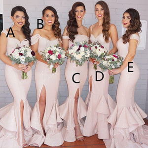 Mismatched Unique Design Different  Sexy Mermaid Charming Cheap Bridesmaid Dress, WG88