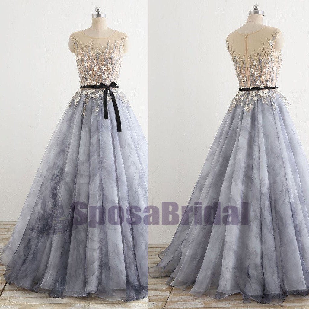 A-line Floor-Length Fairy Unique Design Gorgeous Long Newest Elegant Formal Prom Dresses, PD0599
