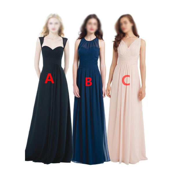 New Different Style Chiffon Cheap Simple Inexpensive Bridesmaid Dresses , PD0294