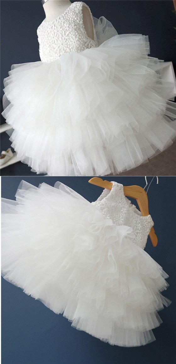 Off white lace top tulle flower girl dresses cute tutu dresses for off white lace top tulle flower girl dresses cute tutu dresses for wedding fg032 mightylinksfo