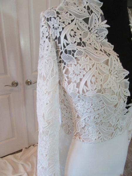 2019 Sexy Deep V-Neck Lace Top Mermaid Wedding Party Dresses, long sleeve wedding gown ,WD0038 - SposaBridal