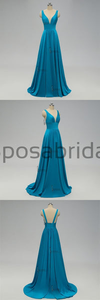 2019 Teal Long Cheap Mismatched  Elegant New Fashion Bridesmaid Dress for wedding guest, WG242 - SposaBridal