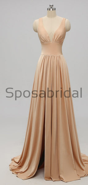 Elegant White Mismatched Long Sexy Most Popular Cheap Modest Bridesmaid Dresses,WG243