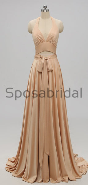 Mermaid Mismatched Gold Most Popular Elegant Bridesmaid Dresses WG633