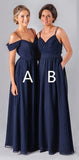2020 Mismatched Different Styles Chiffon Navy Blue  Formal Cheap Sexy Bridesmaid Dresses, WG52