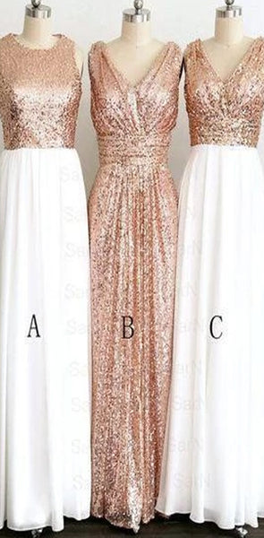 2020 Popular Cheap Sequin Long Off Shoulder V-Neck Floor-Length Bridesmaid Dresses, WG09