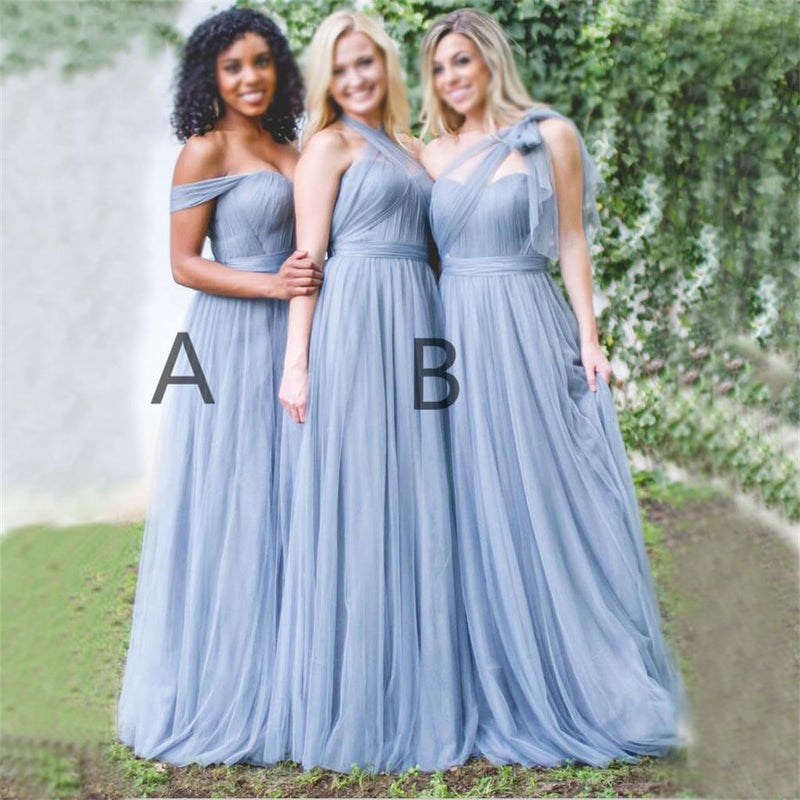 Charming Cheapest High Quality Tulle Off Shoulder Sweetheart Bridesmaid Dresses, PD0460 - SposaBridal