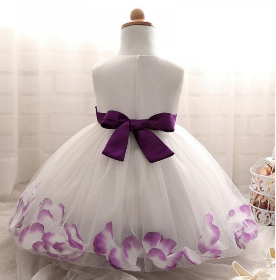 Beautiful Handmade Lovely Flower Girl Dresses, Wedding Cheap Little Girl Dresses with Flowers, FGS021 - SposaBridal