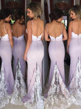 New Design Online Sexy Mermaid Lace Long Bridesmaid Dresses, WG08