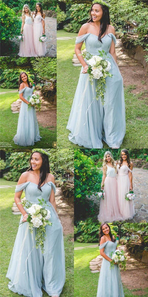 Cheap Custom Modern Fashion Bridesmaid Dress, Blue and Pink Mismatched Bridesmaid Dresses, PD0426