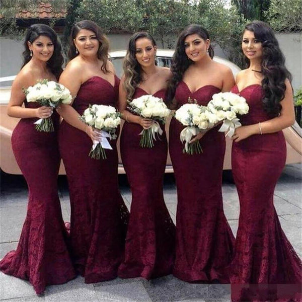 Long mermaid lace sexy sweetheart sleeves bridesmaid for Bebe dresses wedding guest