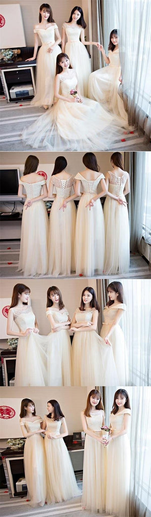 Charming Popular Pretty Cheap Off Shoulder Scoop Bridesmaid Dresses,wedding guest dress, PD0346