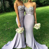 Unique Sexy Mermaid Affordable Long Wedding Guest Dresses Charming Bridesmaid Dresses, WG36