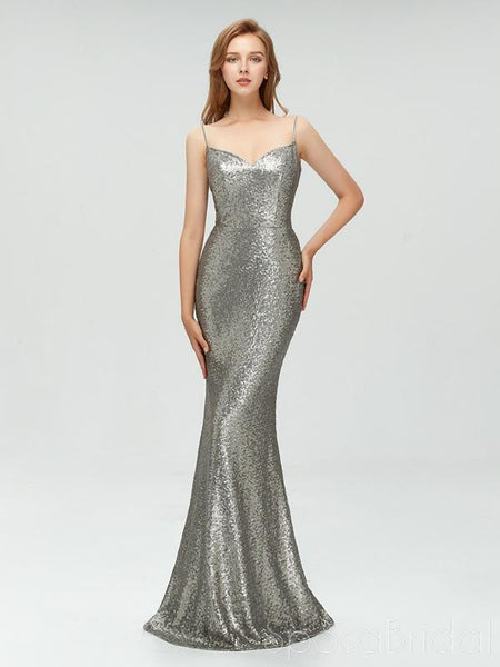 a419ebd07183e 2020 Charming Sexy Spaghetti Straps Cheap Silver Red Sequins Long Prom  Dresses,Mermaid Evening Party Dress, PD0978
