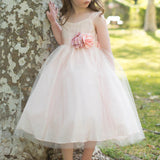 Popular Simple Design Strap A-line Tulle Flower Girl Dresses, FG011