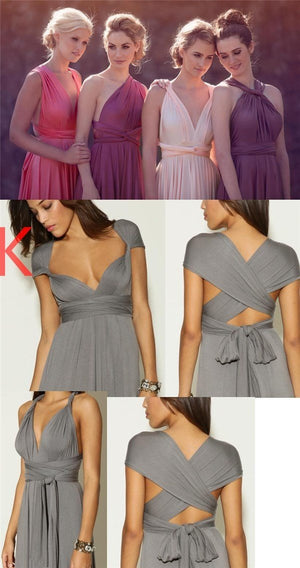 Charming New Cheap Affordable Formal Comfortable Convertible Bridesmaid Dresses, PD0375
