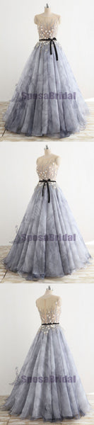 A-line Floor-Length Fairy Unique Design Gorgeous Long Newest Elegant Formal Prom Dresses, PD0599 - SposaBridal