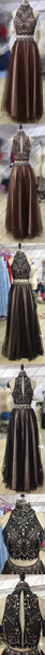 Custom Tulle Two Piece Most Popular Gorgeous Evening Prom Dress, Party gown, PD0321
