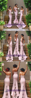 Spaghetti Straps New Design Online Sexy Mermaid Sweet Heart Lace Long Bridesmaid Dresses, WG8
