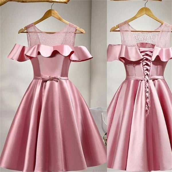 Simple Unique Short Prom Dress, Junior Graduation  A-line Elegant Homecoming Dress, PD0350