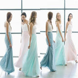 Simple Pretty Cheap Soft Different Color Bridesmaid Dresses , Wedding Guest Dresses , PD0285