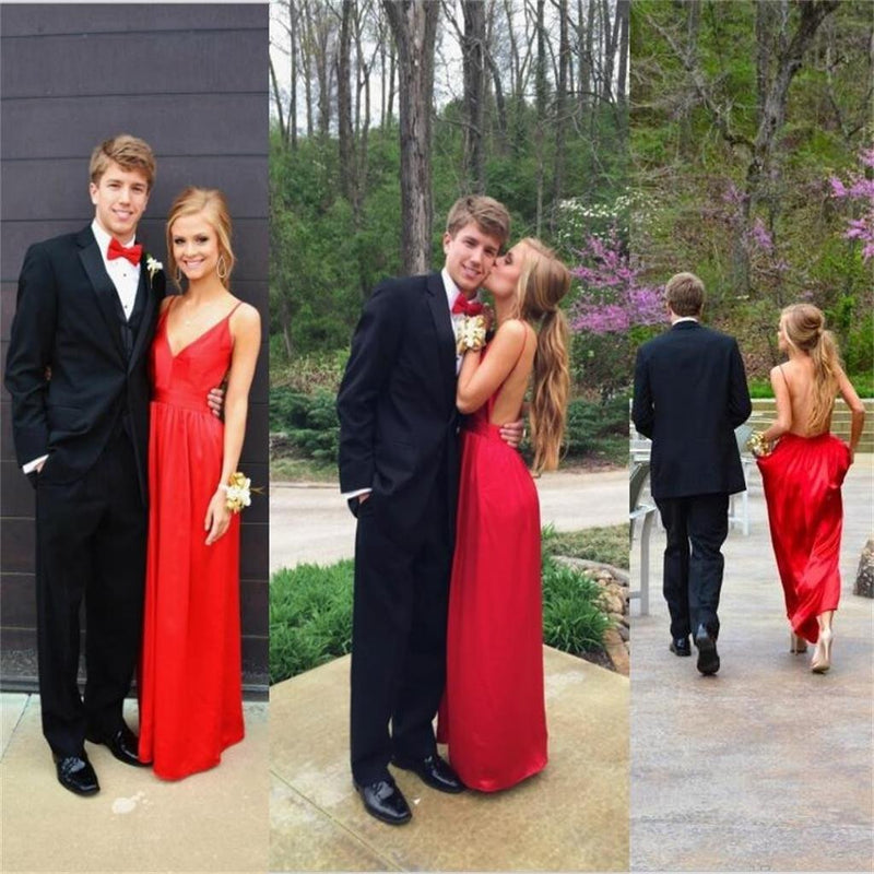 Long Unique Design New Arrival A-line Sleeveless Prom Dress, Party Dress, PD0319